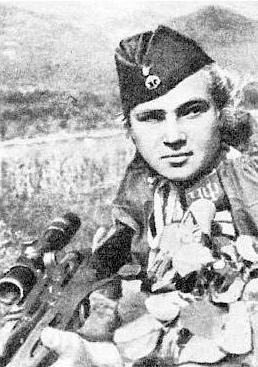 Снайпер Елизавета Миронова. Фотография