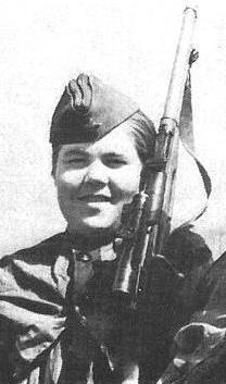 Снайпер Лидия Онянова. Фотография