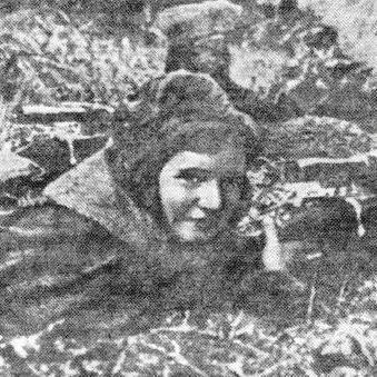 Снайпер Наталья Сапьян. Фотография