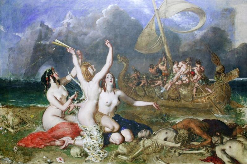 W. Etty - Одиссей и сирены
