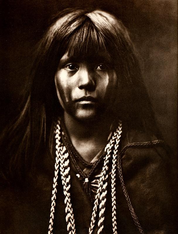 Североамериканская индианка (индеанка) из племени мохаве. Фото