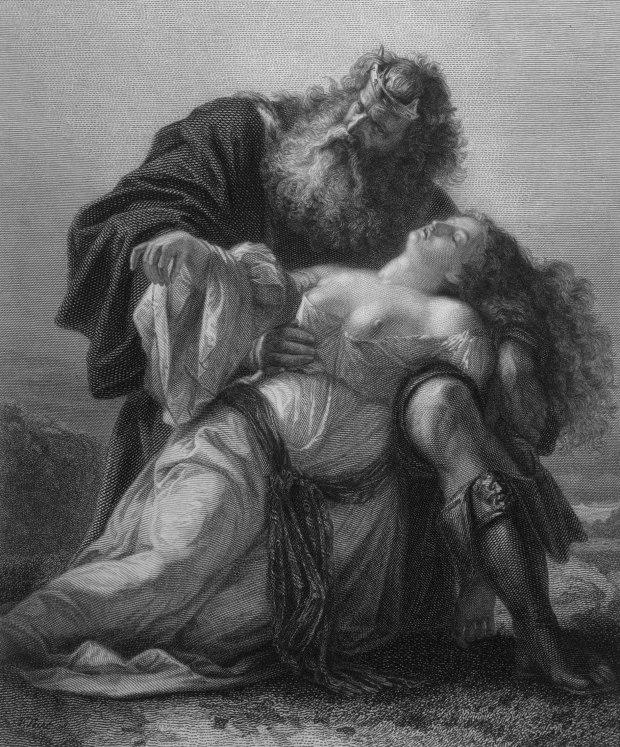 Regele Lear, cu corp de Cordelia