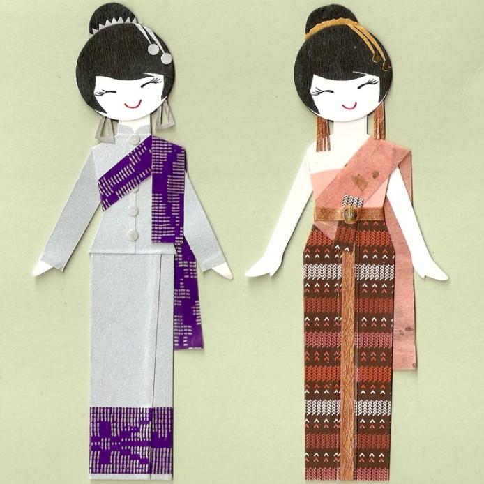 Тайские девушки в национальных костюмах