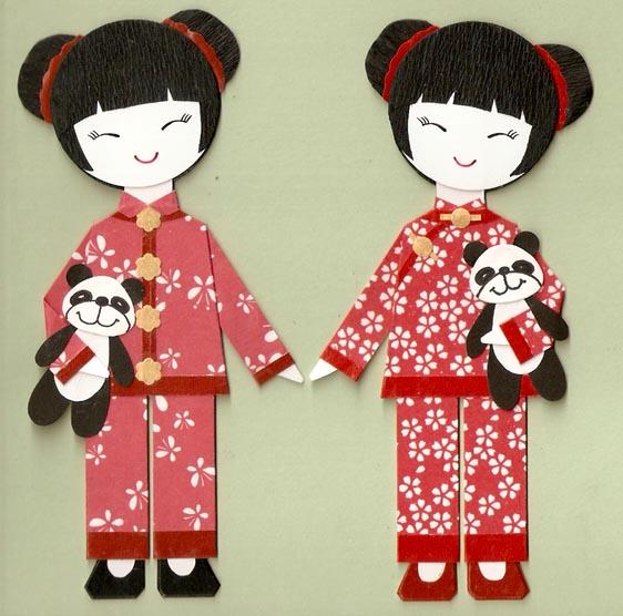 Костюмы китайских девочек
