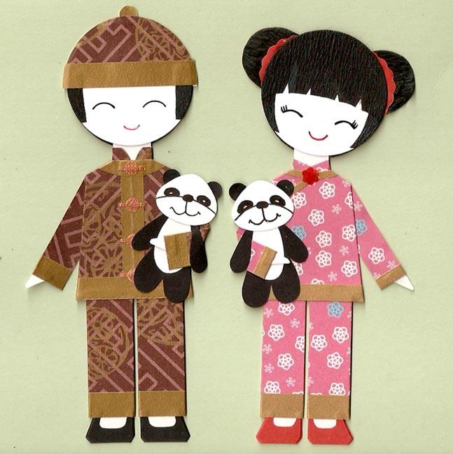 Китайские мальчик и девочка
