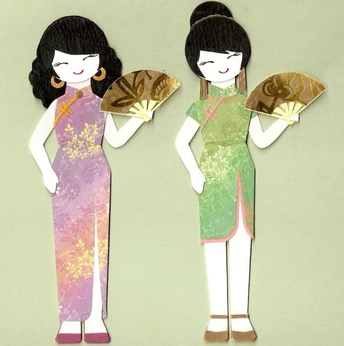 Платья китайских девушек