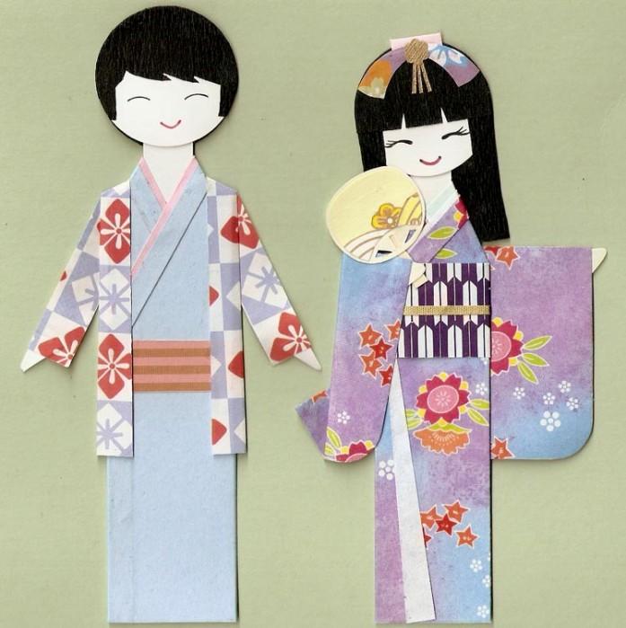 Японские мужчина и женщина