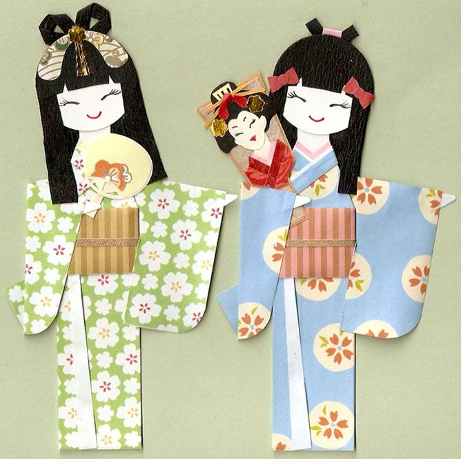 Кимоно японских девушек