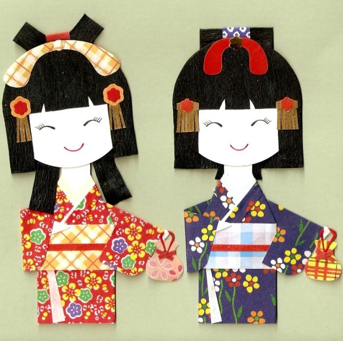 Кимоно японских девочек