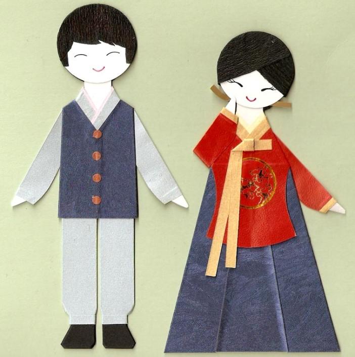 Корейские девушка и юноша