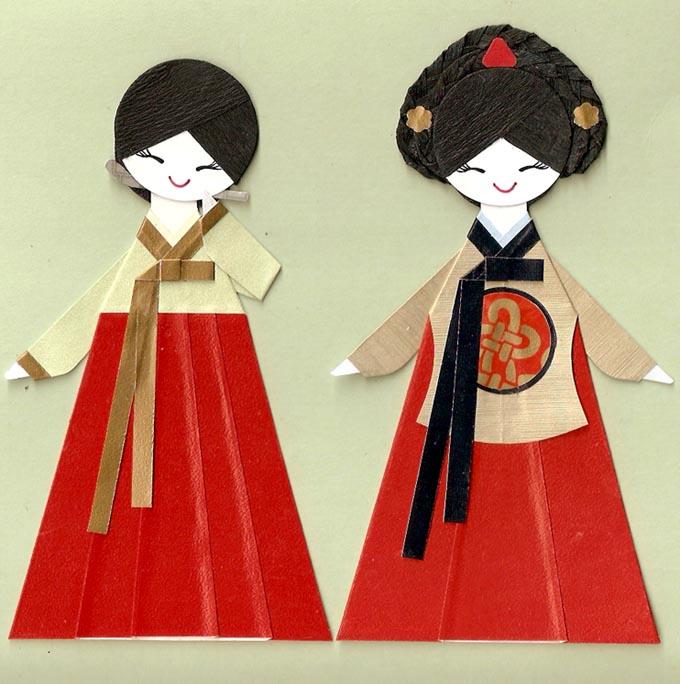 Платья корейских девушек