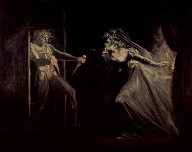 Иоганн Генрих Фюссли - Макбет и леди Макбет