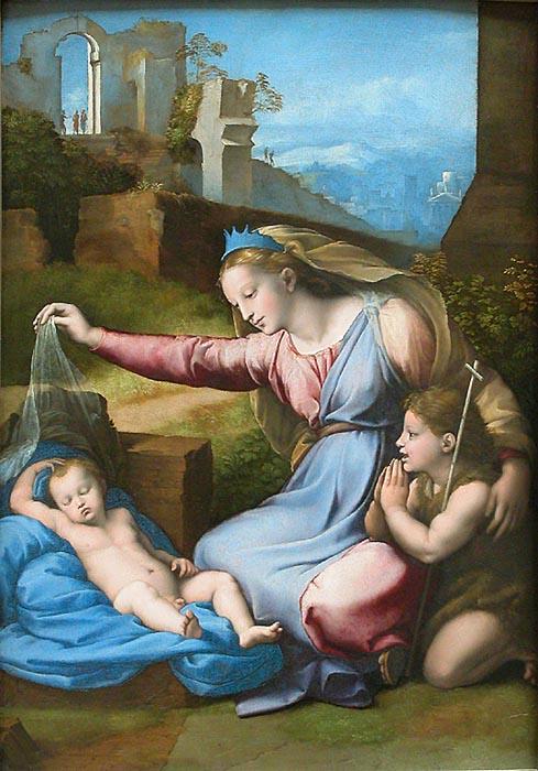 Рафаэль Санти - Мадонна в голубой диадеме