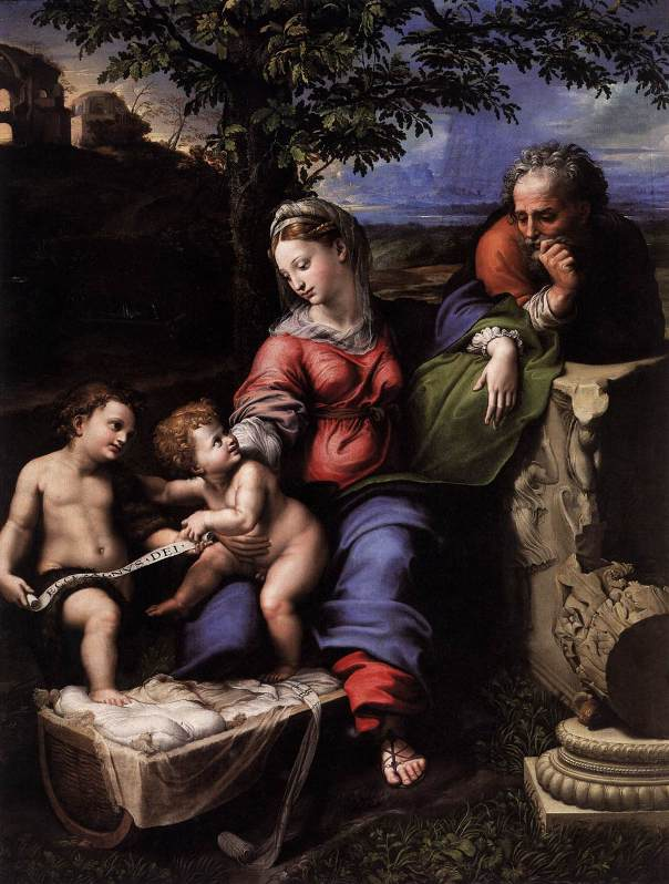 Рафаэль Санти - Святое семейство под дубом