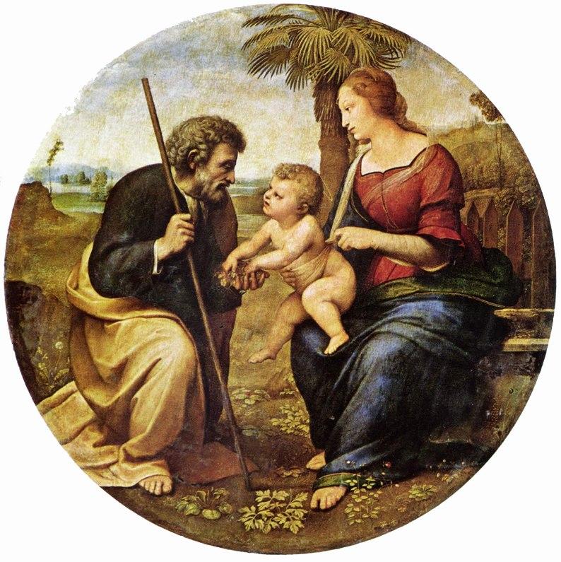Рафаэль Санти - Святое семейство под пальмой