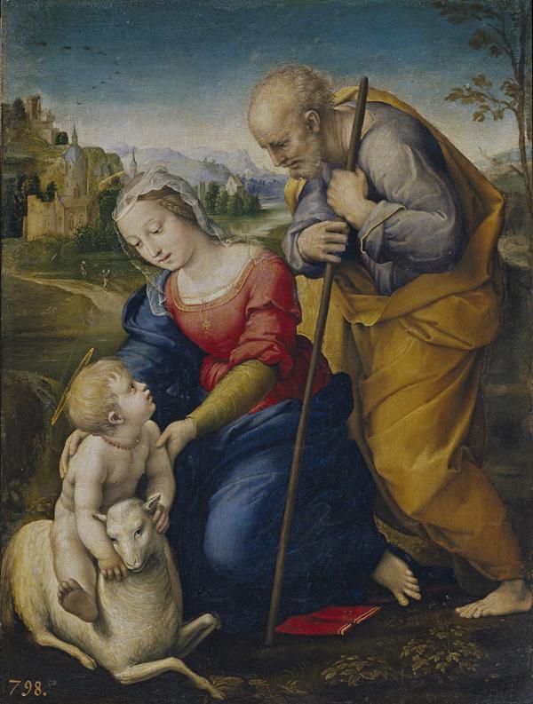 Рафаэль Санти - Святое семейство с агнцем