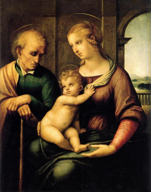 Рафаэль Санти - Святое семейство с безбородым святым Иосифом
