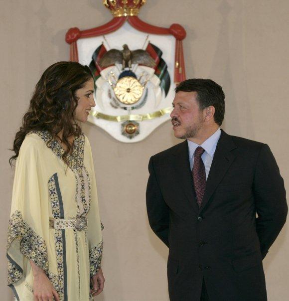 королева Иордании Рания с мужем Абдуллой. Фото