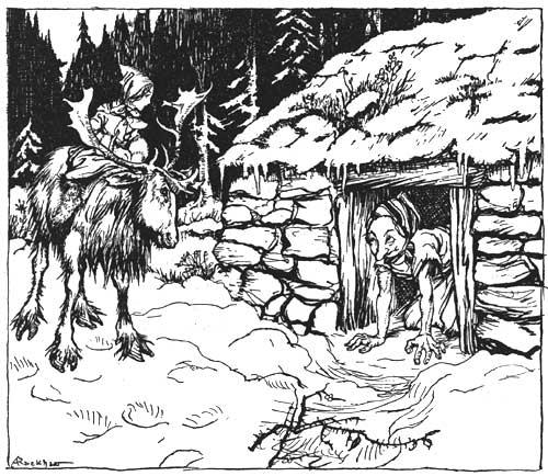 Ганс Христиан Андерсен - Снежная королева (иллюстрация Артура Рэкхема)