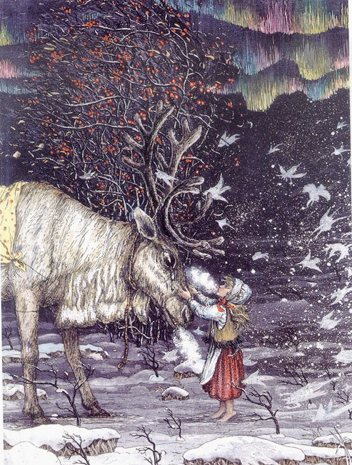 Ганс Христиан Андерсен - Снежная королева (иллюстрация Бориса Диодорова)