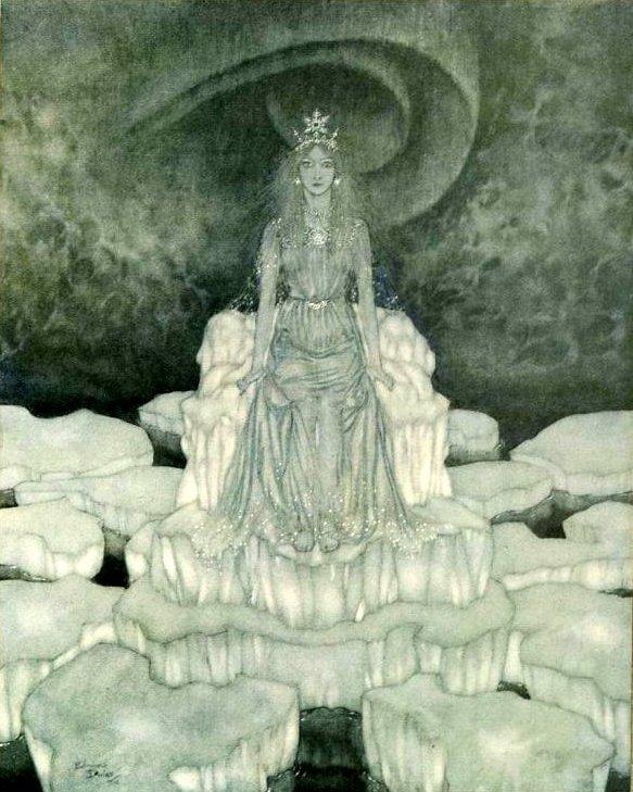 Ганс Христиан Андерсен - Снежная королева (иллюстрация Эдмунда Дюлака)