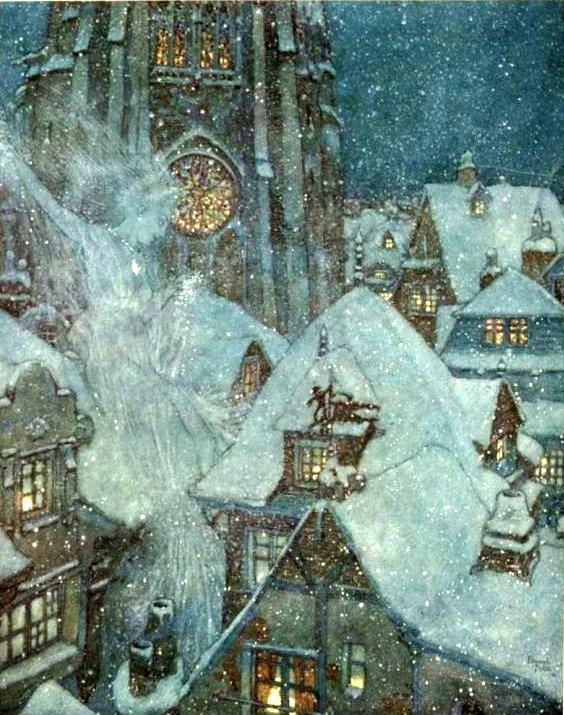 Ганс Христиан Андерсен - Снежная королева (иллюстрация - Эдмунд Дюлак)