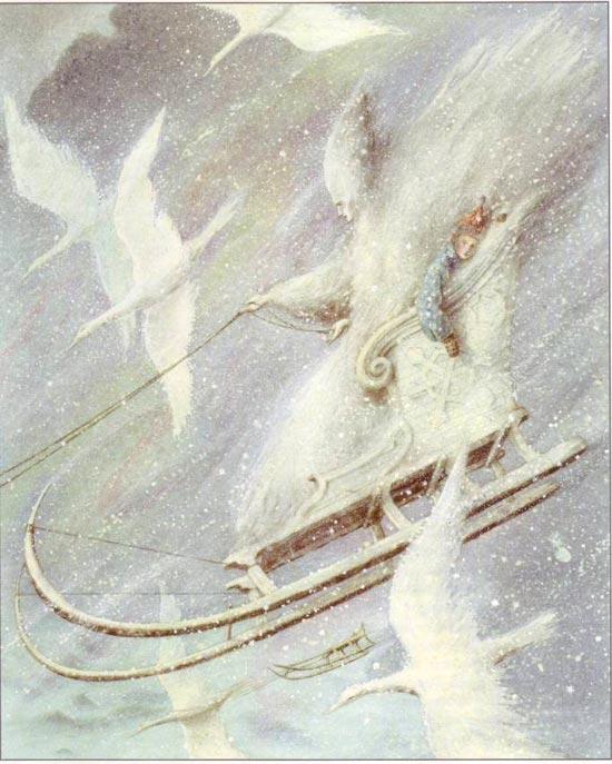 Ганс Христиан Андерсен - Снежная королева (иллюстрация - Angela Barrett)