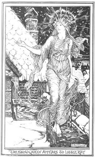 Ганс Христиан Андерсен - Снежная королева (иллюстрация - H. J. Ford)