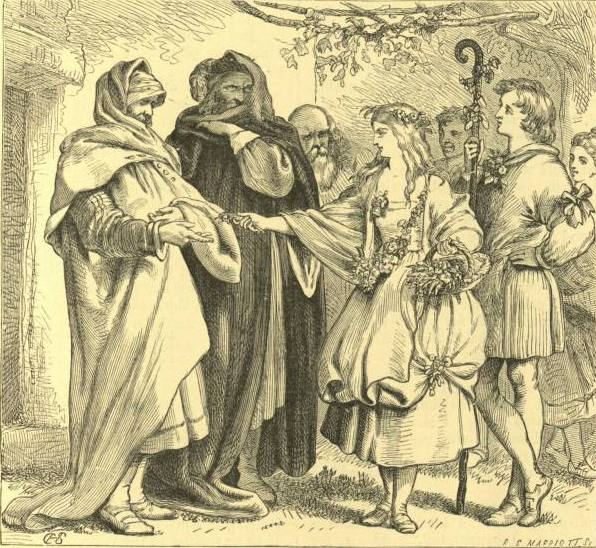 Поликсен, Камилло, Утрата, Флоризель на празднике пастухов (Шекспир - Зимняя сказка)