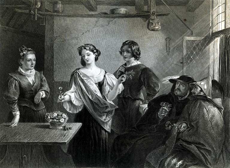 Charles Robert Leslie. Флоризель и Утрата (Шекспир - Зимняя сказка)