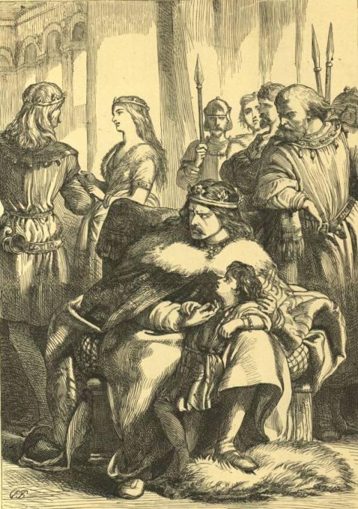 F. Wentworth - Леонт подозревает Гермиону и Поликсена в измене (Шекспир - Зимняя сказка)
