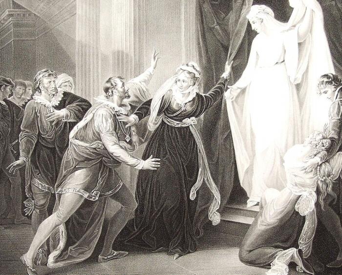 W. Hamilton - Статуя Гермионы (Шекспир - Зимняя сказка)