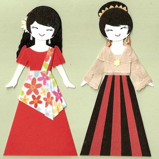 Филиппинские девушки в национальных костюмах
