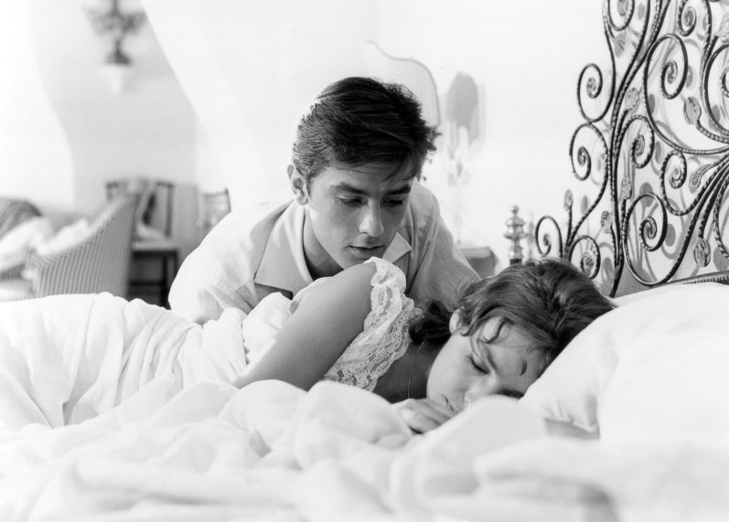 Мари Лафорэ и Ален Делон. Фото / Marie Laforet and Alain Delon photo. На ярком солнце / Plein Soleil. 1960