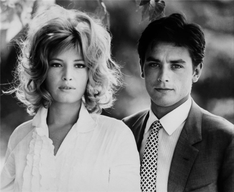 Моника Витти и Ален Делон. Фото / Monica Vitti and Alain Delon photo. Затмение / L' Eclisse. 1962