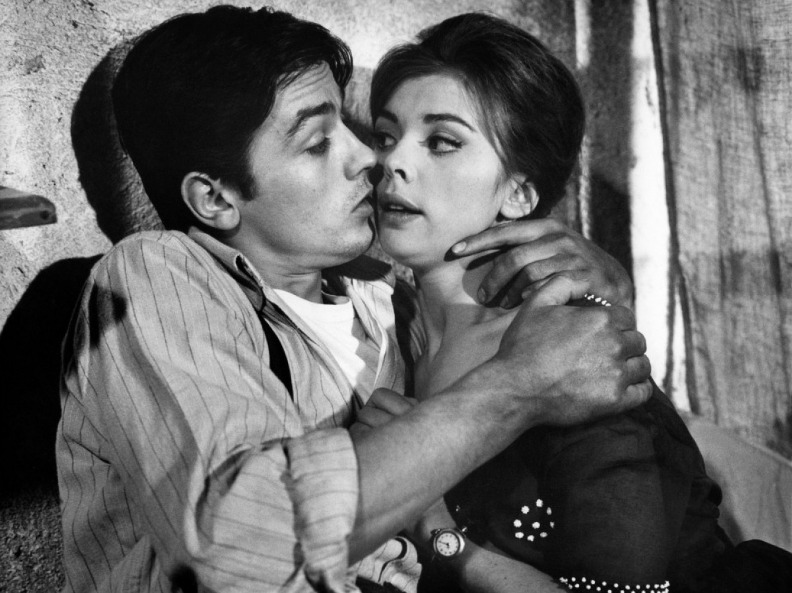 Барбара Ласс и Ален Делон. Фото /  Barbara Lass and Alain Delon photo. Как радостно жить / Che gioia vivere. 1961