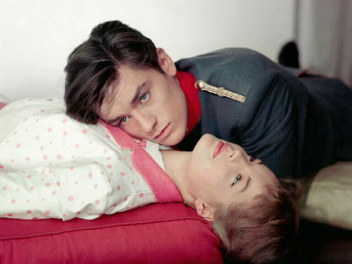 Роми Шнайдер и Ален Делон. Фото / Romy Schneider and Alain Delon photo