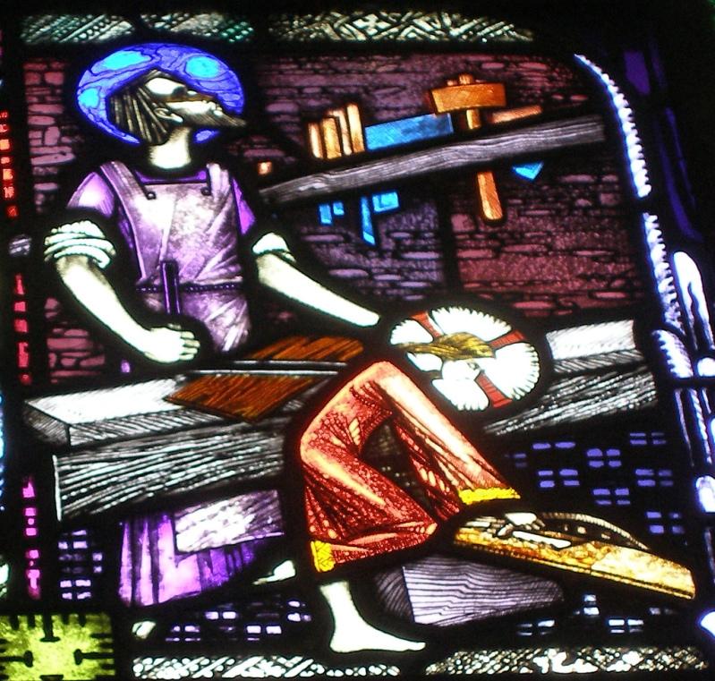 Святой Иосиф обручник и Иисус Христос в мастерской