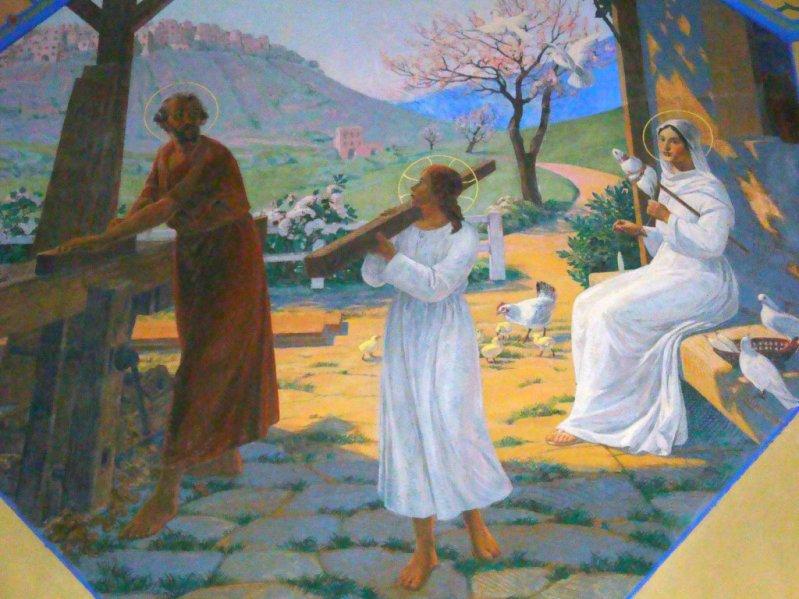 Святой Иосиф, Иисус Христос и Пресвятая Дева Мария