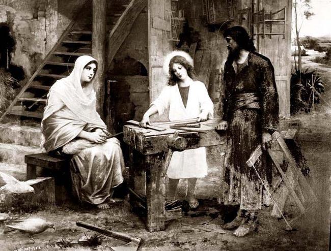 Святой Иосиф Обручник, Иисус Христос и Пресвятая Дева Мария
