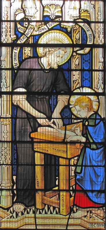 Святой Иосиф Обручник обучает Иисуса плотницкому мастерству