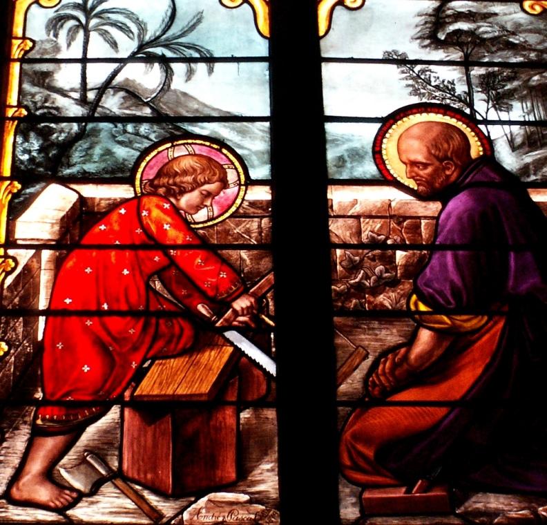 Святой Иосиф и юный Иисус Христос в мастерской