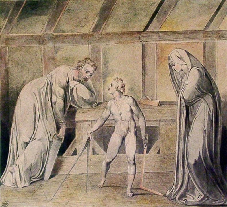 Уильям Блейк - Юный Иисус в мастерской Иосифа