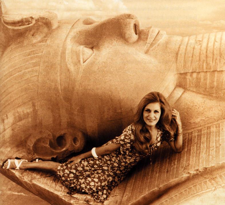 Далида в Египте. Фото