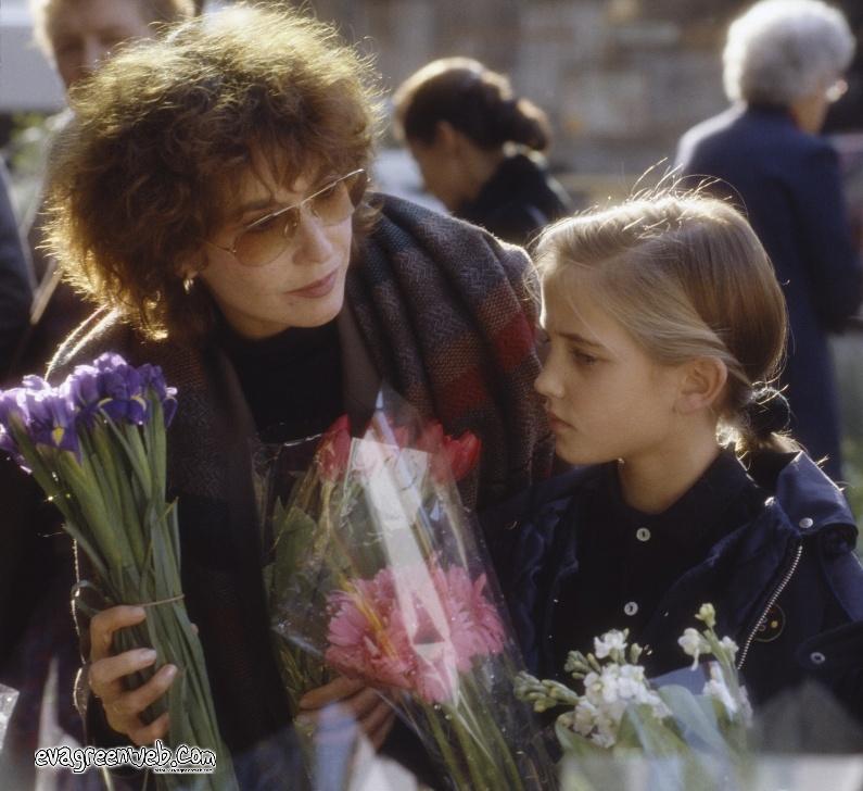 Ева Грин с матерью Марлен Жобер. Фото