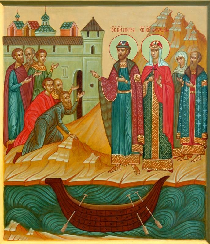 Пётр и Феврония возвращаются в Муром. Икона