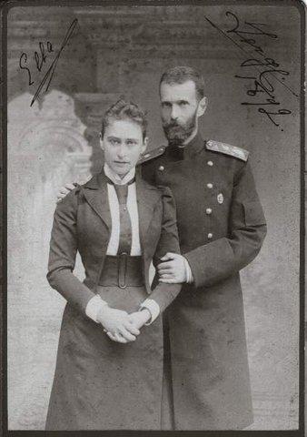 Елизавета Федоровна с мужем Сергеем Александровичем. Фотография