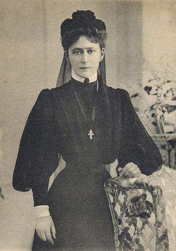 Елизавета Федоровна Романова в трауре после смерти мужа. Фотография