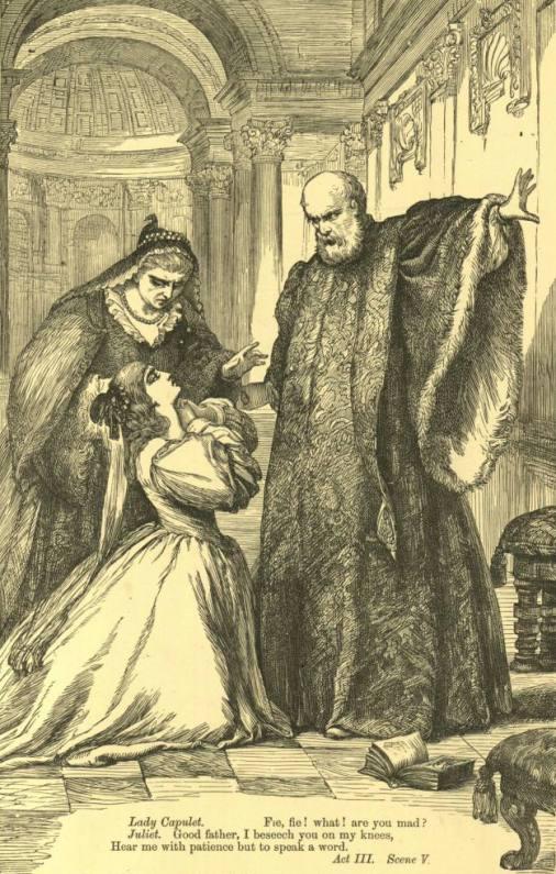 Отец заставляет Джульетту выйти замуж за Париса