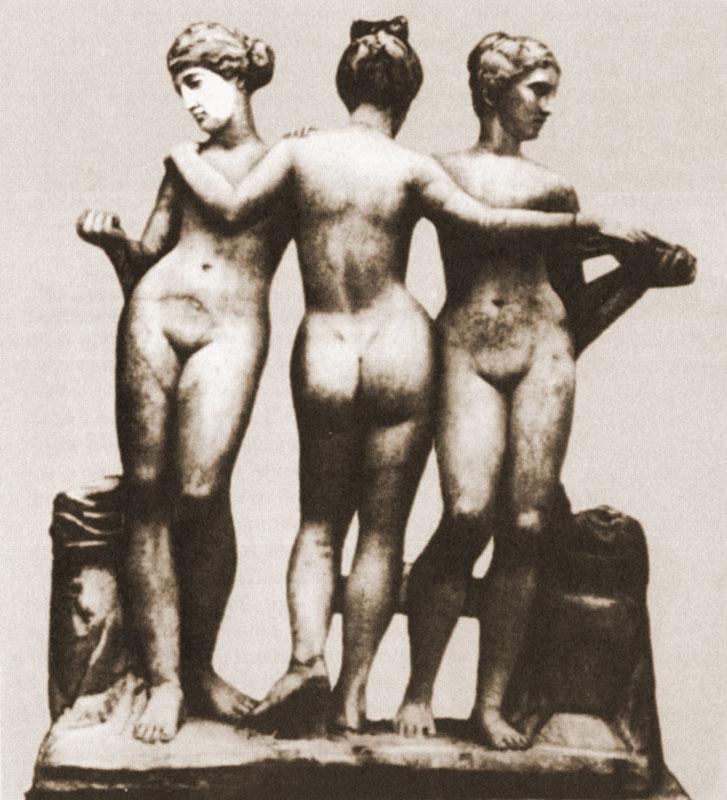 Три хариты. Античная скульптура, 3 век до н.э.